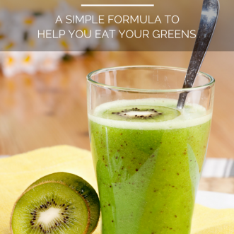Green Smoothies: A Simple Formula to Help You Eat Your Greens. Hate eating green leafy veggies but want the health benefits? Disguise them in a green smoothie with this simple recipe!