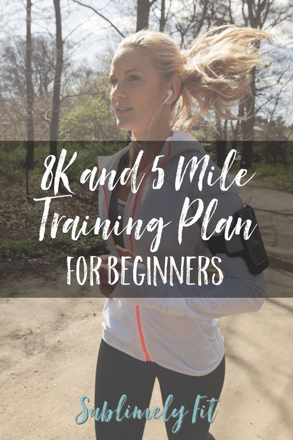 Easy 8K and 5 mile training plan for beginners. You'll slowly ramp up your mileage so you can get across the finish line on race day.