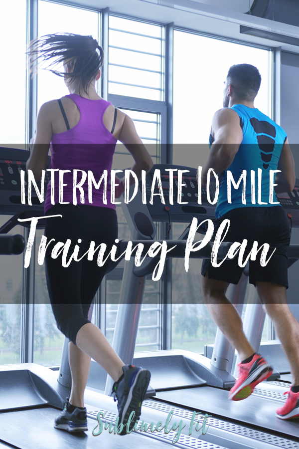 An intermediate 10 mile training plan for runners who already have a good mileage base and want to get faster.