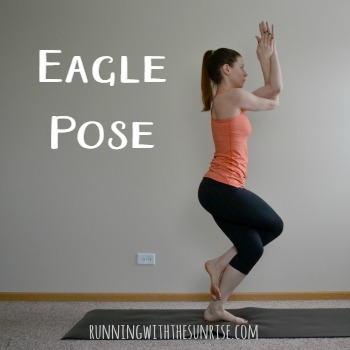 Great balancing yoga poses for runners: eagle pose