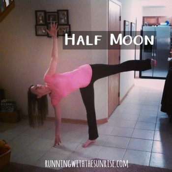 Great balancing yoga poses for runners: half moon pose
