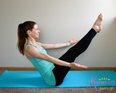 Core strengthening yoga poses: boat pose