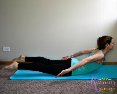 Core strengthening yoga poses: locust pose