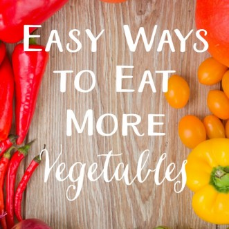 Wish it was easier to get in all of the vegetables you know you should eat every day? These tricks are what help me eat my veggies!