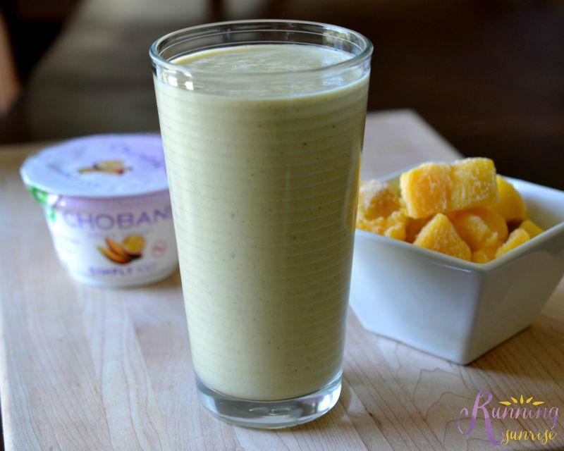 Workout Fuel + Chobani: Mango protein smoothie made with Mango Passion Fruit Chobani Simply 100 Greek yogurt. Click through for the recipe!