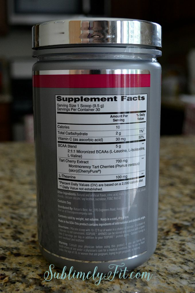 Isopure Aminos Ingredients