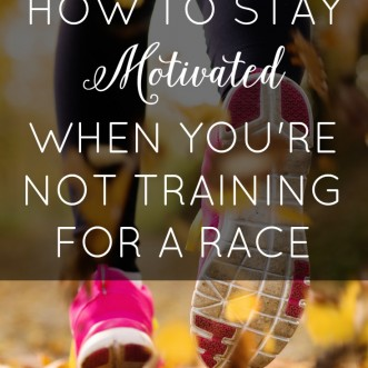 Have trouble staying motivated with your running when you've finished your last race of the season? These tricks may help!