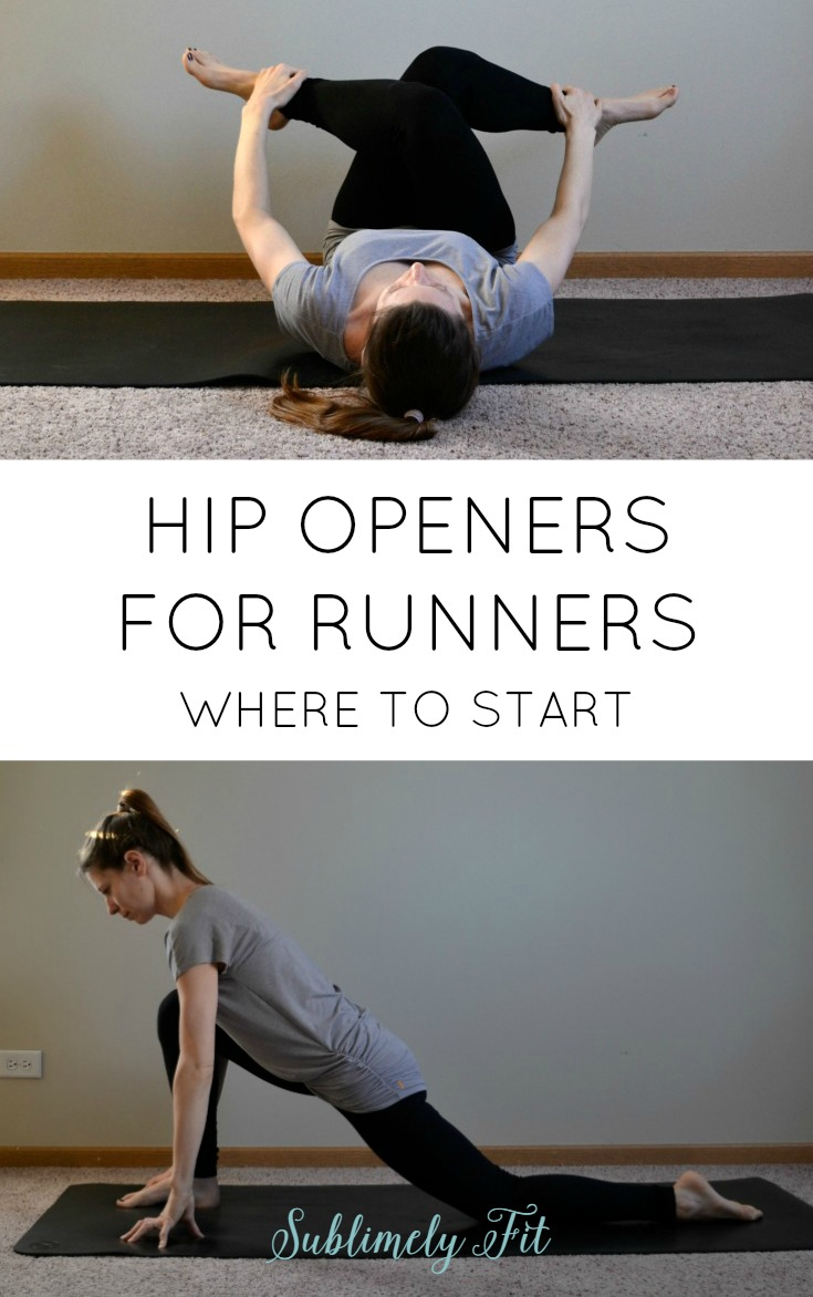 Hip openers for runners. Runners, are you struggling with tight hip muscles? Start with these yoga poses.