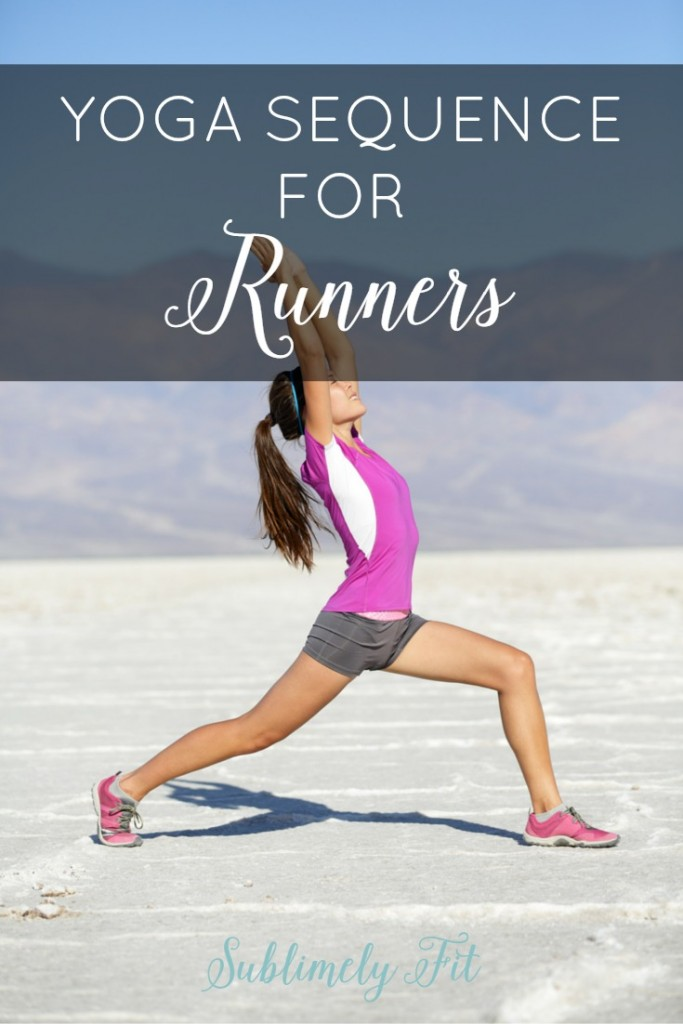 Yoga Sequence for Runners: A short and simple yoga sequence for runners that will help you stretch out tight muscles after a run.