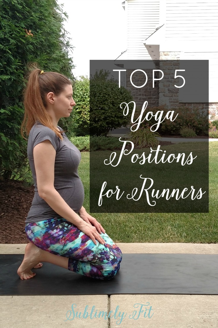 Five great yoga positions for runners from a yoga teacher and running coach. These yoga positions are easy to modify if you're really tight!