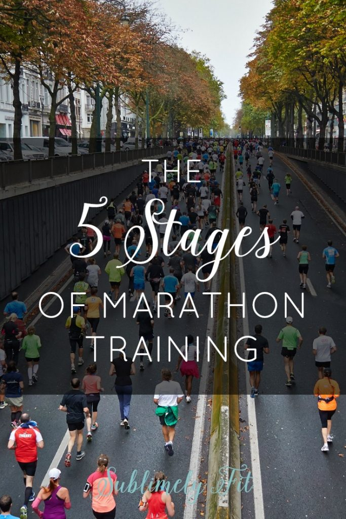 So much of marathon training is all mental. Take a (somewhat humorous) look at the 5 mental stages of marathon training.