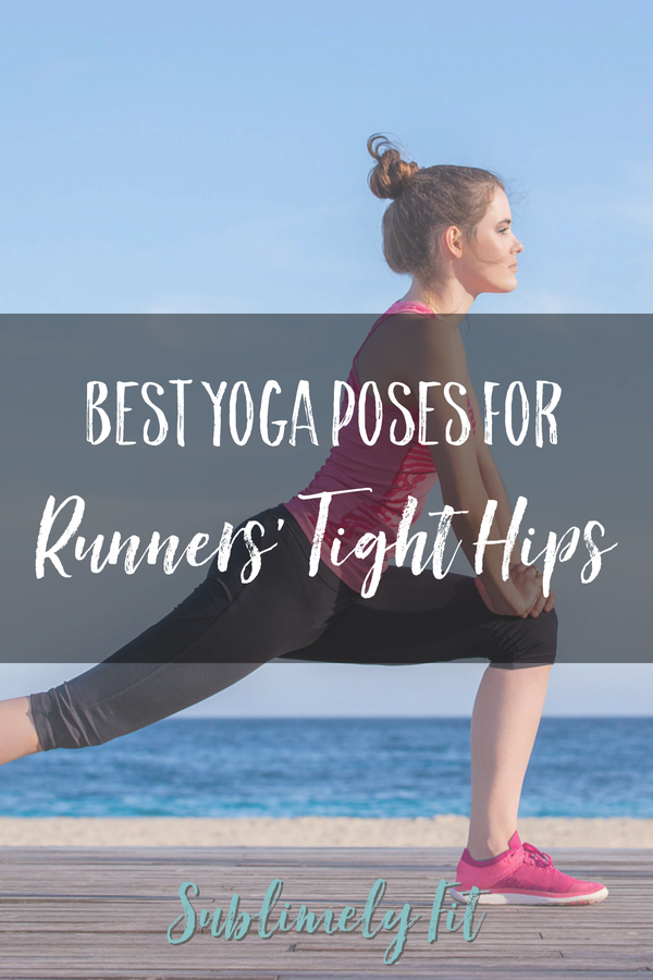 Runners have notoriously tight hips. This collection of yoga poses will help you open your tight hips, helping you feel miles better.