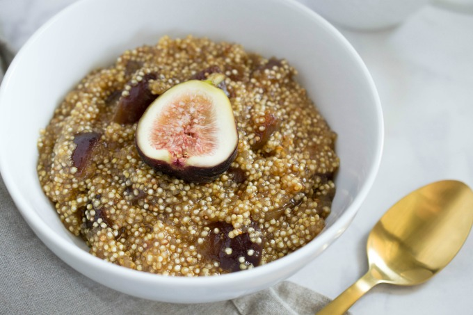 This fig breakfast quinoa recipe is not only simple to make, it's also nutritious, delicious, and it will keep you full all morning!