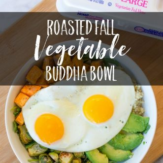 Roasted Fall Vegetable Buddha Bowl with Eggland's Best Eggs