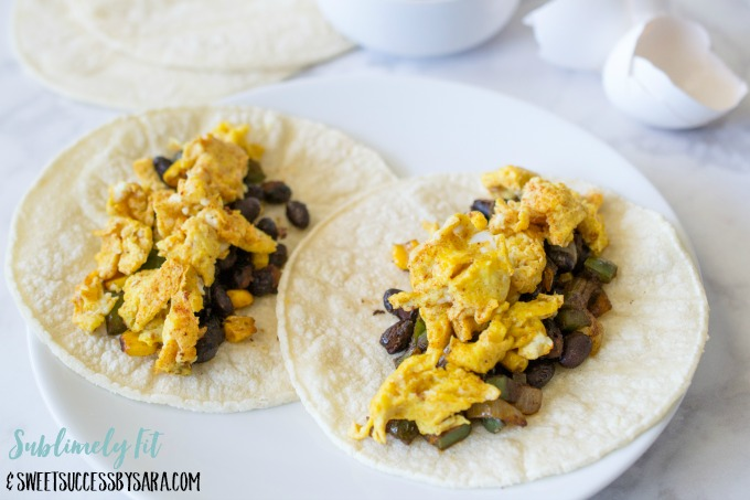 Healthy Breakfast Tacos (Gluten Free, Dairy Free, Vegetarian) - Recipe by Sweet Success by Sara