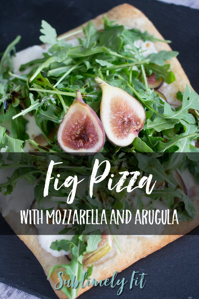 This quick but delicious Fig Pizza with Mozzarella and Arugula is a perfect weeknight dinner!