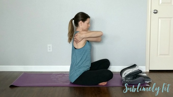 Gentle Yoga Sequence for Upper Back and Shoulders - Bear Hug Arms