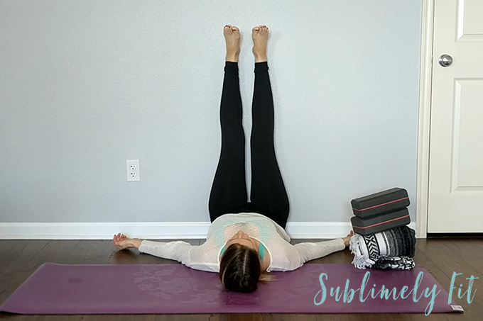 Restorative Yoga Sequence for Runners - Legs up the Wall Pose