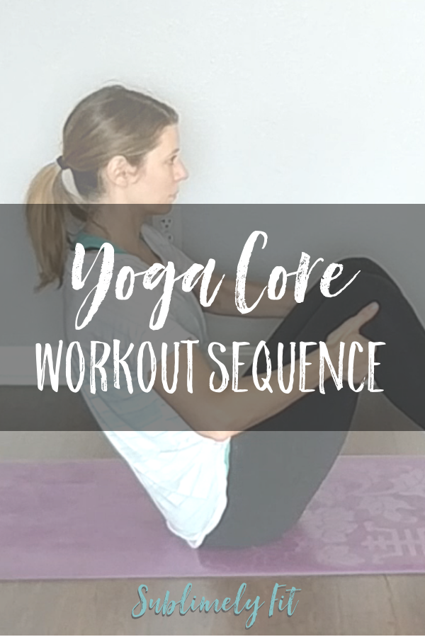 Build a stronger core with this Yoga Core Workout Sequence. (Includes a free yoga video!) Descriptions for modifications are included.